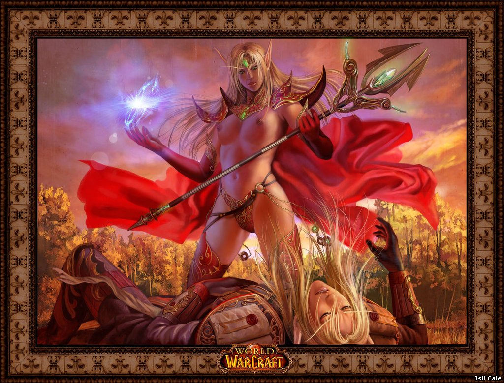 Sexy girl World of Warcraft art cartoon pictures