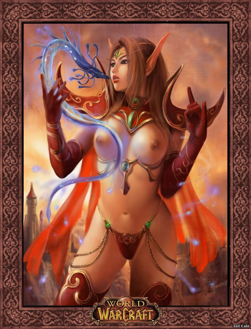 Sexy girl World of Warcraft art naked clip